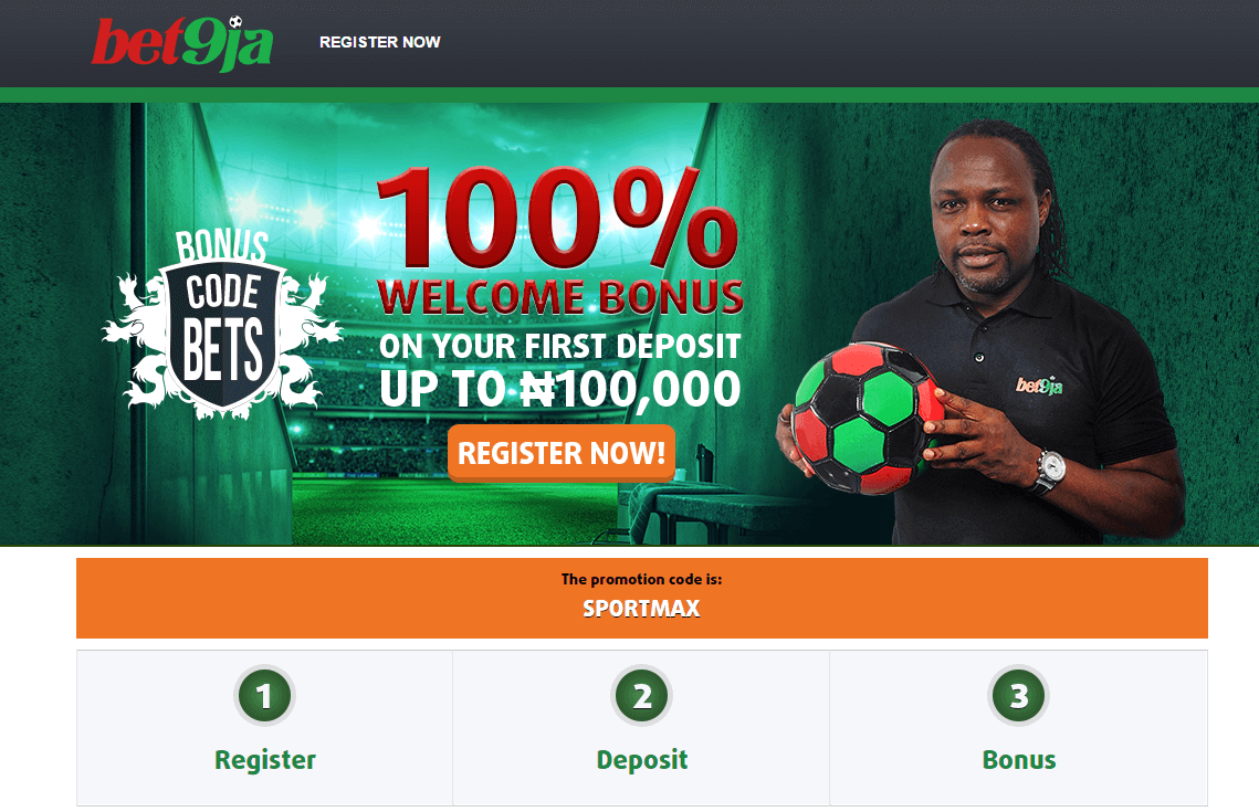 Bet9ja Promotion Code 2019 | SPORTMAX | Gain ₦100,000 advantage!