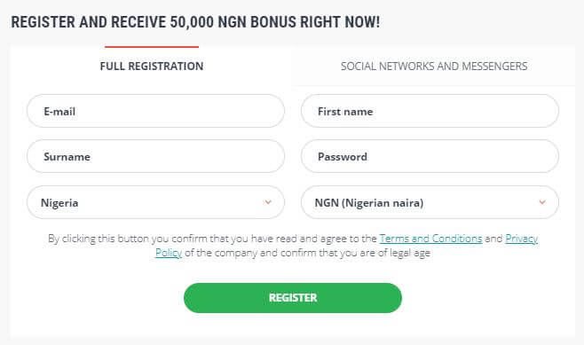 Register at 22Bet