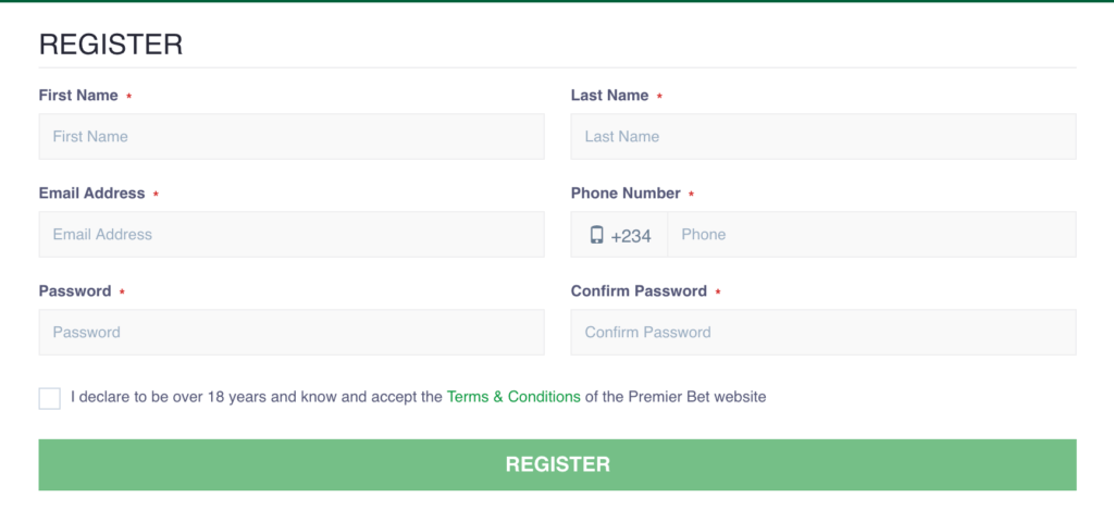 premier bet registration