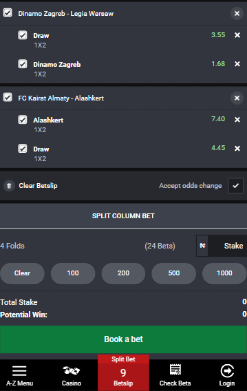 combined bet