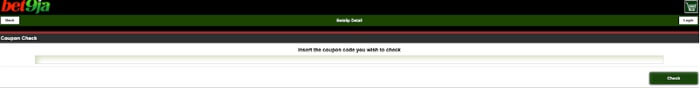 How to do a bet9ja coupon check on the mobile site