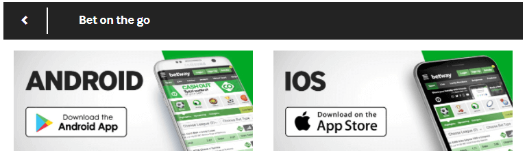 betway app ios or android